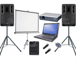 Lautsprecher und Musikanlagen und Karaokeanlage mieten