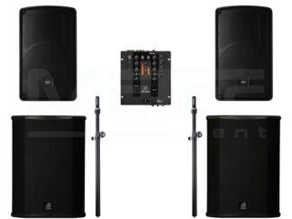 Lautsprecher und Musikanlagen mieten