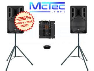 Lautsprecher und Musikanlagen mieten Angebot März, April und Mai